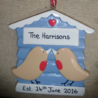 Robin Couple| Personalised | Christmas Decorations